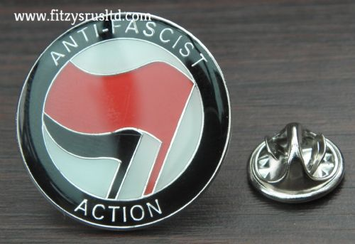 Anti Fascist Action Pin Badge Anti Racism Racist Protest Solidarity Symbol Brooch